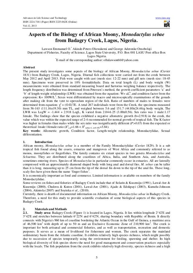 Advances in Life Science and Technology ISSN 2224-7181 (Paper) ISSN 2225-062X (Online) Vol.12, 2013  www.iiste.org  Aspect...