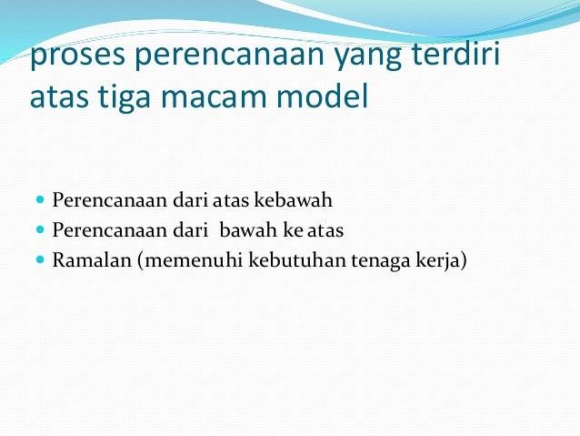 proses perencanaan yang terdiri atas tiga macam model  Perencanaan dari atas kebawah  Perencanaan dari bawah ke atas  R...