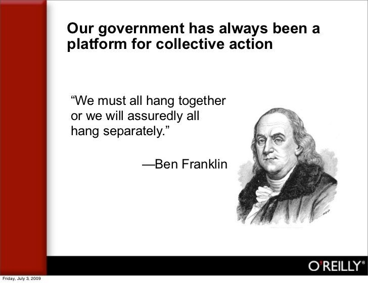 """Our government has always been a                        platform for collective action                          """"We must a..."""