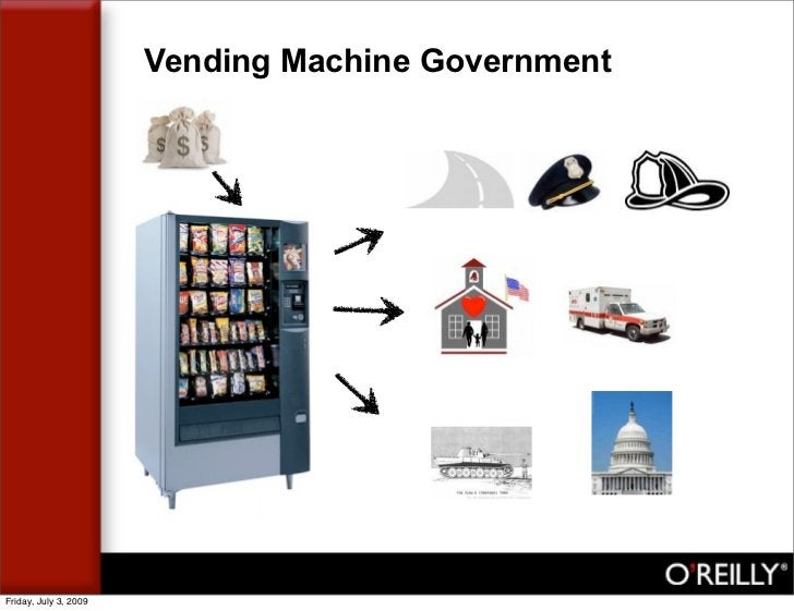 Vending Machine Government     Friday, July 3, 2009
