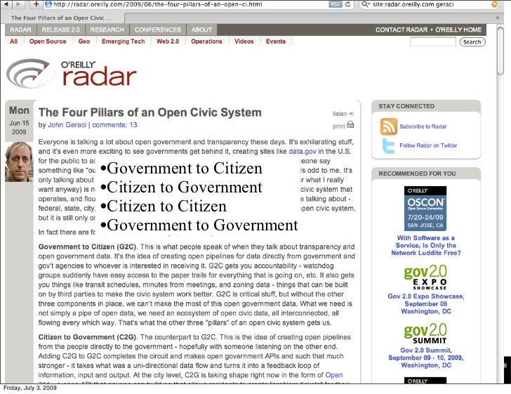 •Government to Citizen                        •Citizen to Government                        •Citizen to Citizen           ...