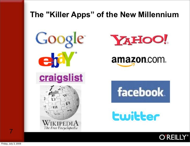 """The """"Killer Apps"""" of the New Millennium             7 Friday, July 3, 2009"""