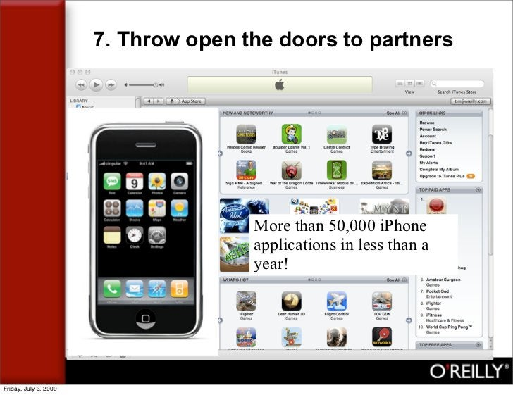 7. Throw open the doors to partners                                           More than 50,000 iPhone                     ...