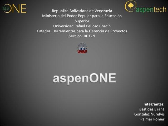 Republica Bolivariana de Venezuela  Ministerio del Poder Popular para la Educación  Superior  Universidad Rafael Belloso C...