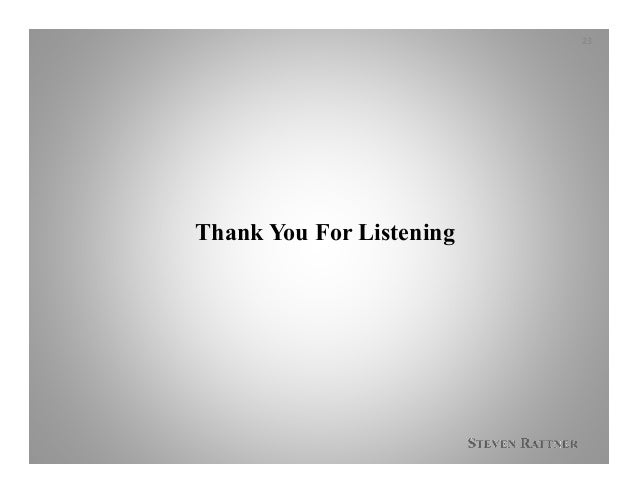 Thank You For Listening 23