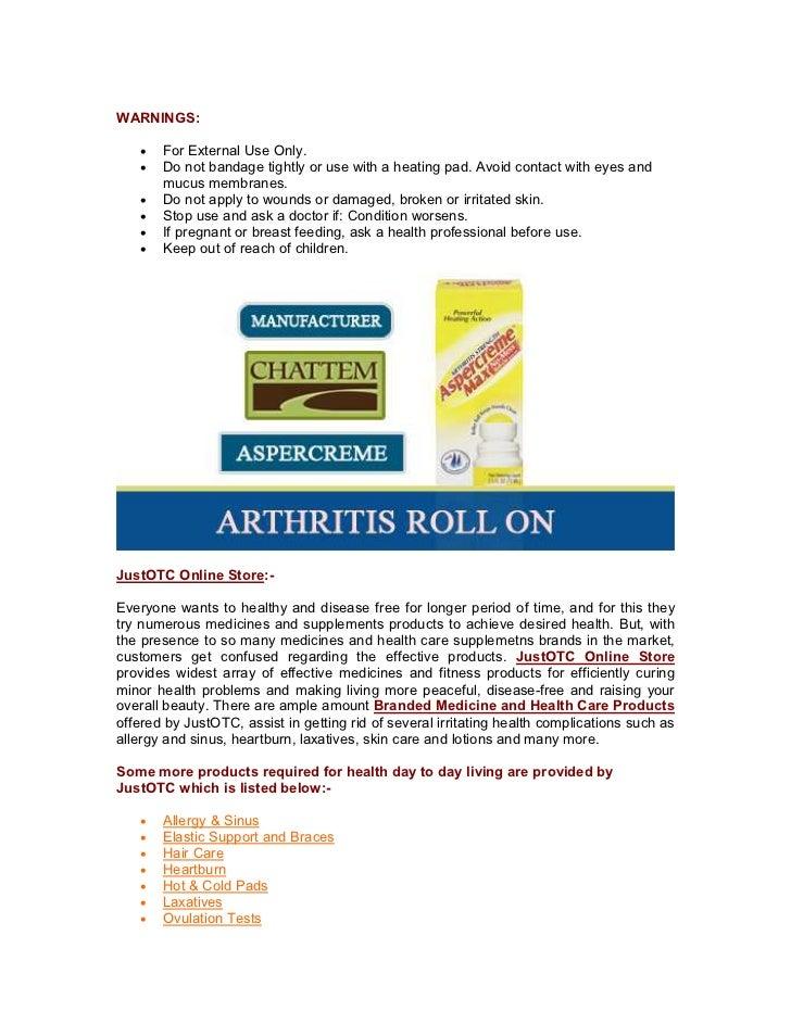 Buy Aspercreme Roll On For Arthritis Aspercreme Max