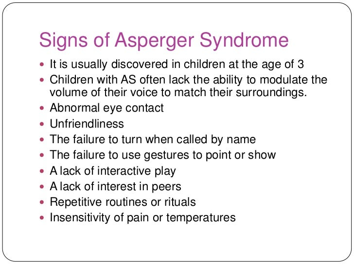 Aspergers Girls Symptoms