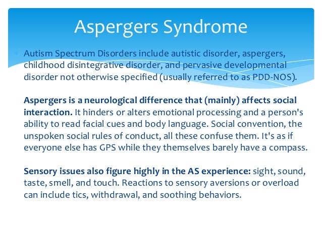 Asperger Syndrome Essays (Examples)