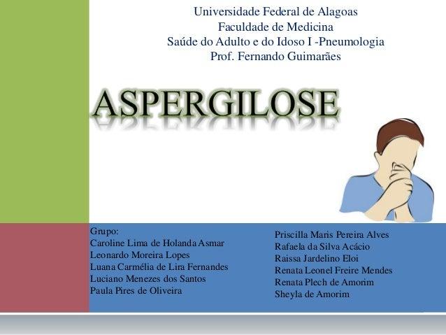 Universidade Federal de Alagoas  Faculdade de Medicina  Saúde do Adulto e do Idoso I -Pneumologia  Prof. Fernando Guimarãe...