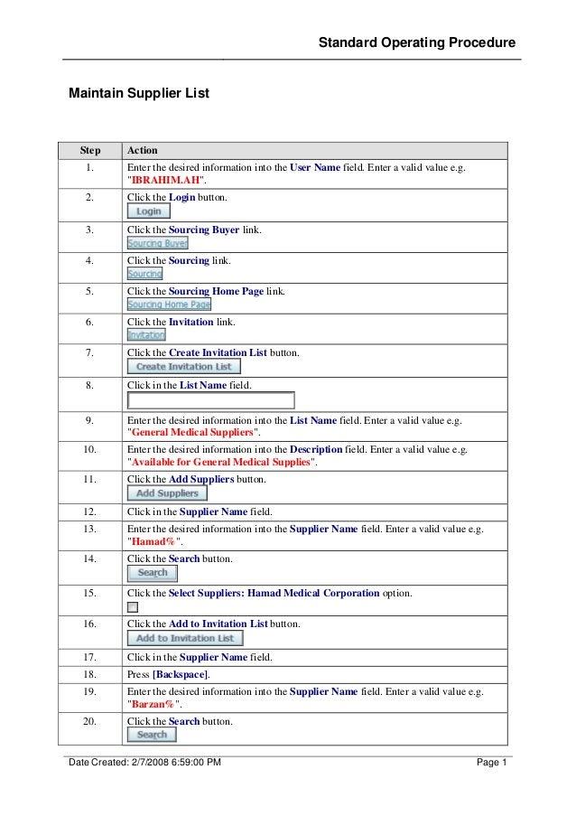 Maintain supplier list Oracle R12