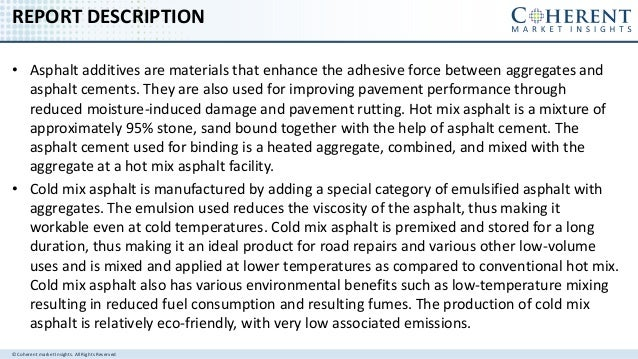 ASPHALT ADDITIVES MARKET - GLOBAL INDUSTRY INSIGHTS, TRENDS, OUTLOOK, AND OPPORTUNITY ANALYSIS, 2016–2024 Slide 2