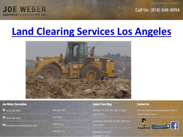 Land Clearing Services Los Angeles