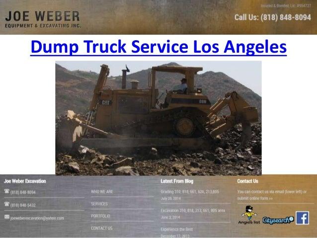 Dump Truck Service Los Angeles