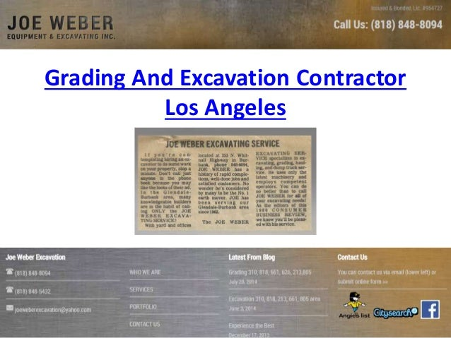 Grading And Excavation Contractor Los Angeles