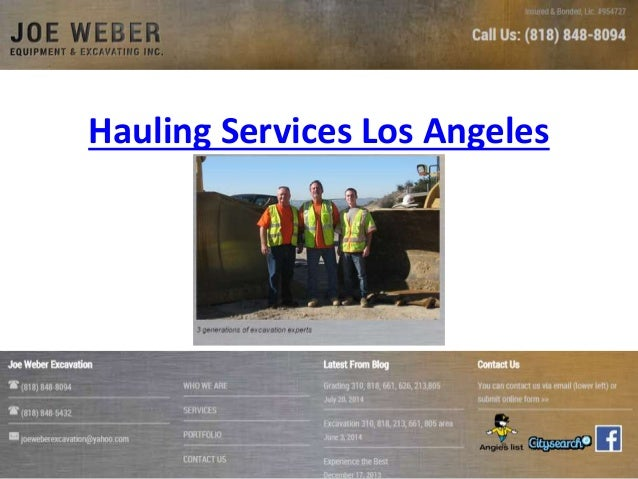 Hauling Services Los Angeles