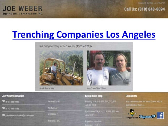 Trenching Companies Los Angeles