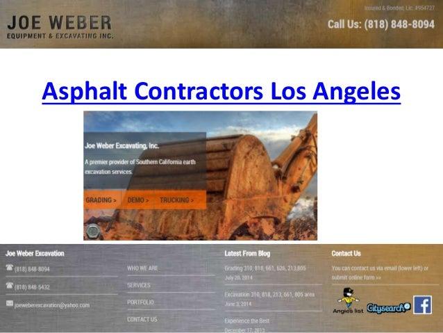 Asphalt Contractors Los Angeles