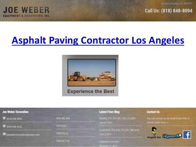 Asphalt Paving Contractor Los Angeles