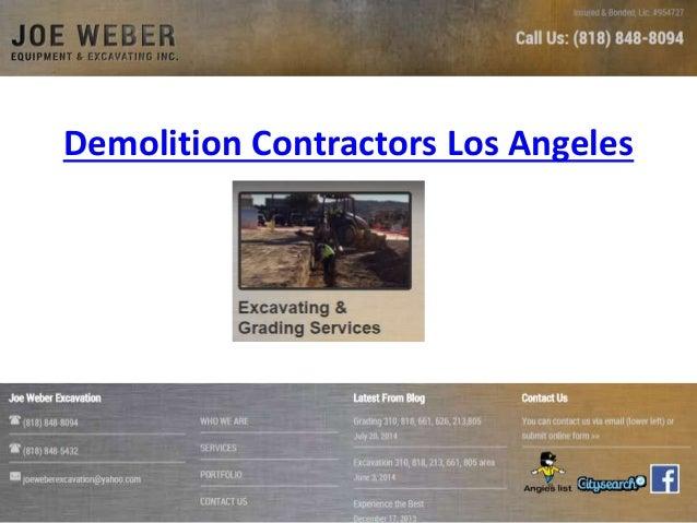 Demolition Contractors Los Angeles