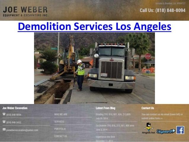 Demolition Services Los Angeles
