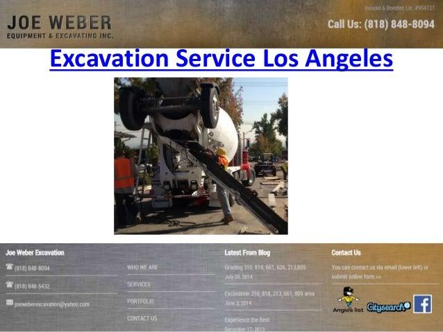 Excavation Service Los Angeles