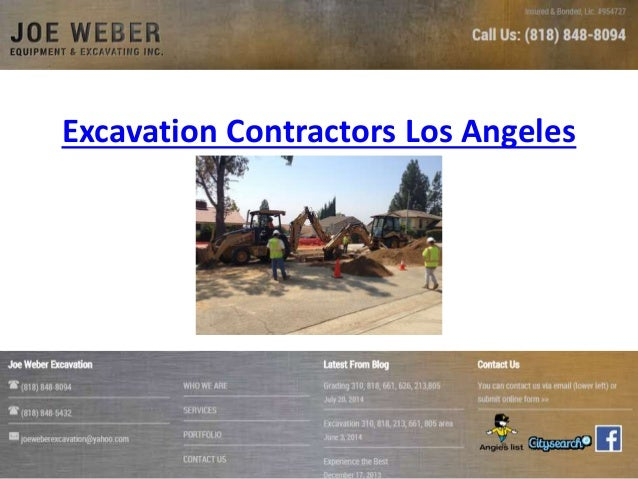 Excavation Contractors Los Angeles