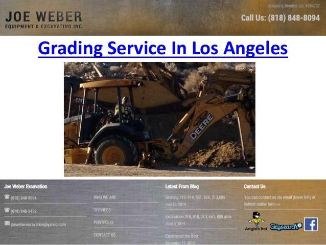 Grading Service In Los Angeles