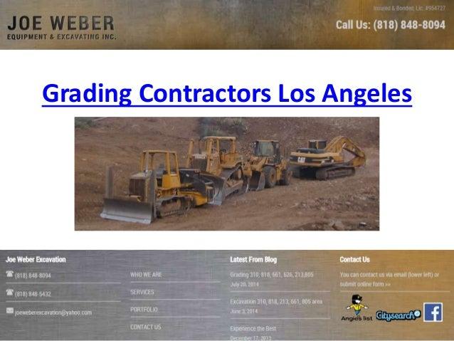 Grading Contractors Los Angeles
