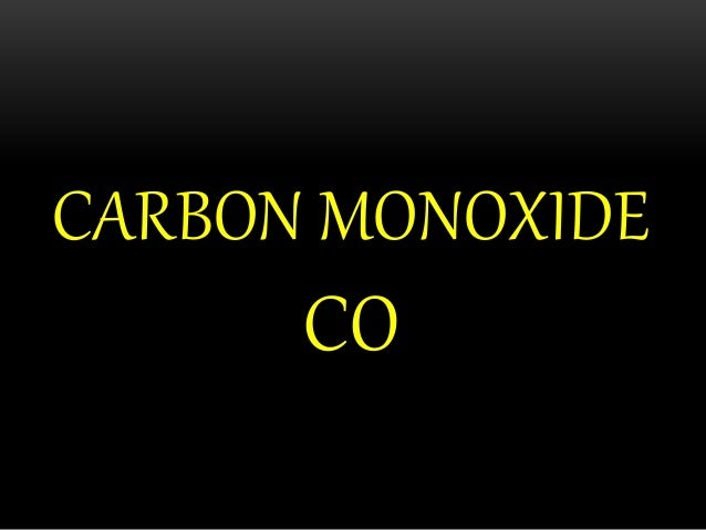 Carbon Monoxide Density At Room Temperature