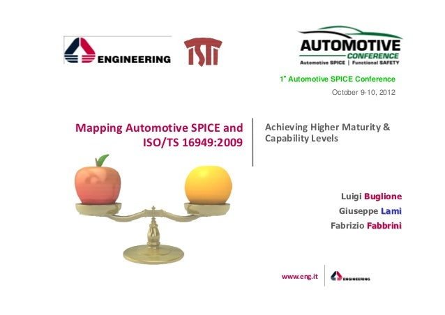 1° Automotive SPICE Conference                                   °                                               October 9...