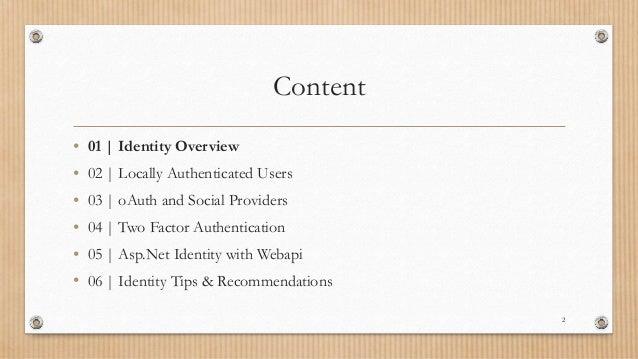 Asp.Net Identity Slide 2