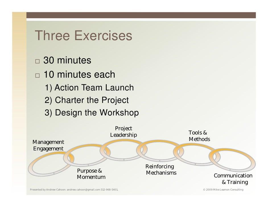 change management exercise Change Management Workshop