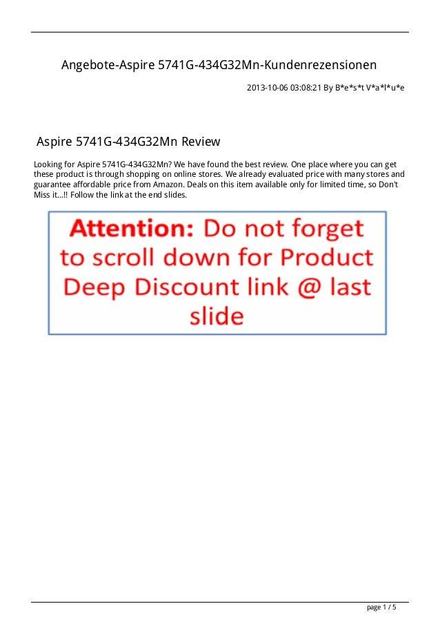 Angebote-Aspire 5741G-434G32Mn-Kundenrezensionen 2013-10-06 03:08:21 By B*e*s*t V*a*l*u*e Aspire 5741G-434G32Mn Review Loo...