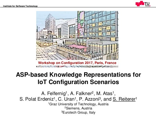 Workshop on Configuration 2017, Paris, France Institute for Software Technology 1 ASP-based Knowledge Representations for ...