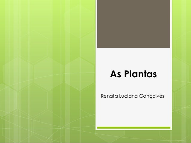 As Plantas  Renata Luciana Gonçalves