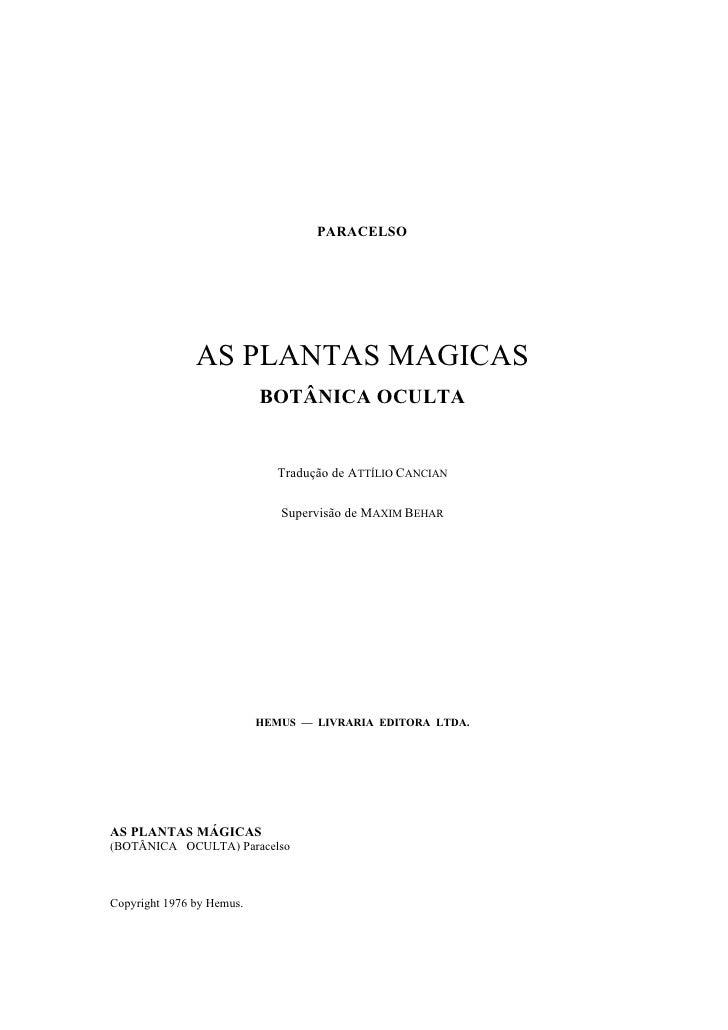 As  Plantas  Magicas