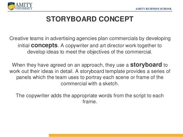 Copywriting  Storyboarding Advertising  Sales Promotion
