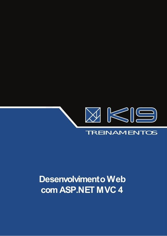 TRE INAME NTO S  Desenvolvimento Web com ASP.NET MVC 4