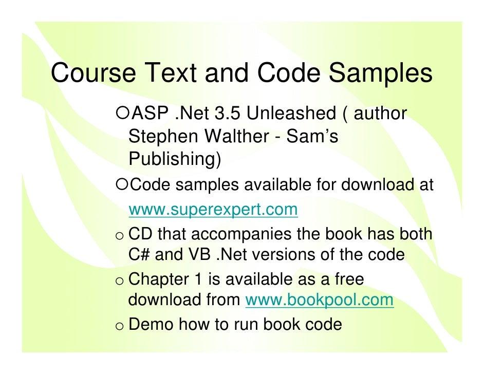 4 Unleashed - Stephen Walther Kevin Hoffman Nate Dudek - Google Books