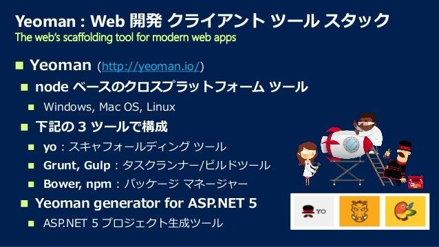  Microsoft.AspNet.Loader.IIS (Helios)  IIS ホスト  System.Web には非依存 (Helios ベース)  他の IIS モジュールとともに統合される  Microsoft.AspNe...