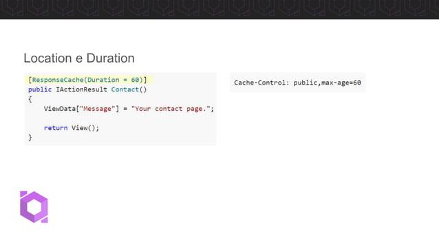 • Utilizado para padronizar o cache da API • Cria perfis que podem ser re-utilizados Cache Profile
