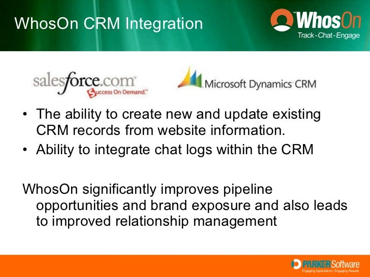<ul><li>The ability to create new and update existing CRM records from website information. </li></ul><ul><li>Ability to i...
