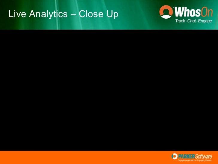 Live Analytics – Close Up