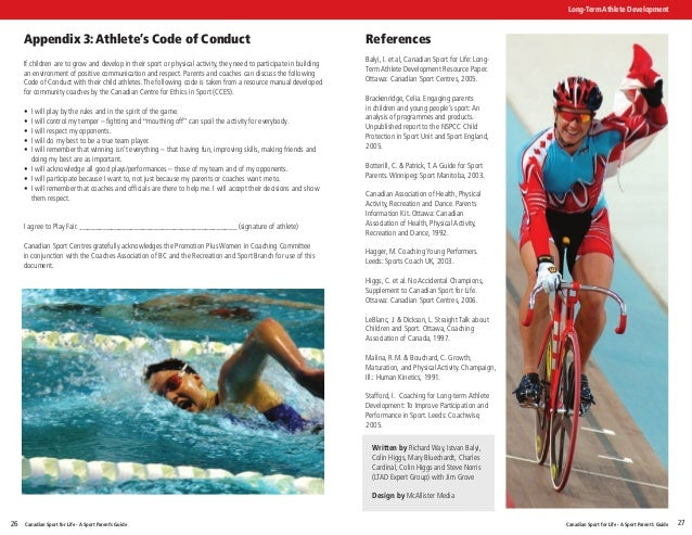 "canadian sport for life long term athlete development resource paper Long term player development sport canada's resource paper ""canadian sport for life"" sets out a to sport canada's long-term athlete development."
