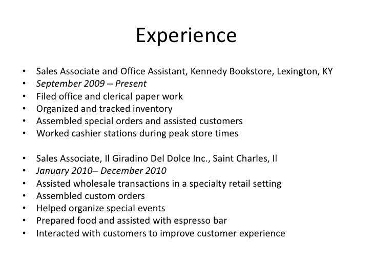 Perfect Resume Bookstore Picture Collection - Example Resume Ideas ...