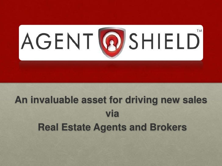 An invaluable asset for driving new sales<br /> via<br /> Real Estate Agents and Brokers<br />