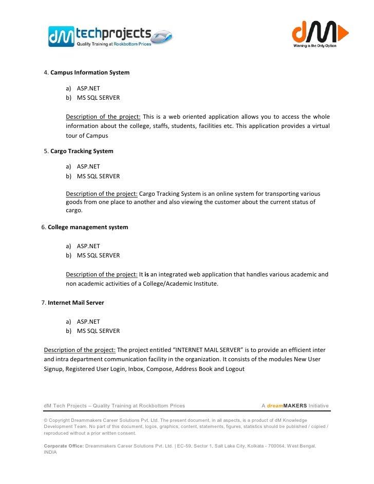 Asp project list