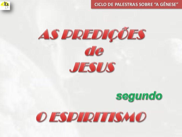 "CICLO DE PALESTRAS SOBRE ""A GÊNESE"""