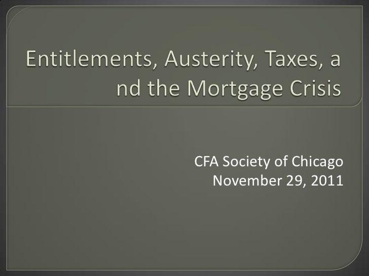CFA Society of Chicago  November 29, 2011