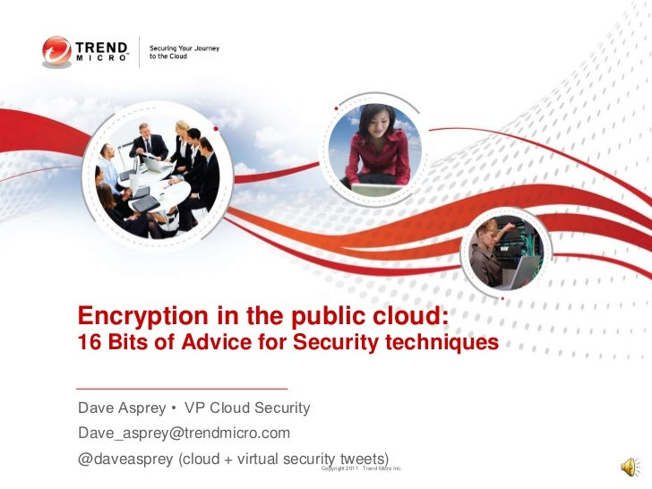 Dave Asprey •  VP Cloud Security<br />Dave_asprey@trendmicro.com<br />@daveasprey (cloud + virtual security tweets)<br />E...